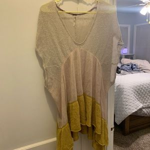 Free people sweeter knit top Sz S
